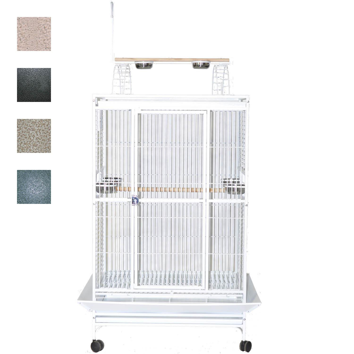 "A&E Cage Company 36"" X 28"" Play Top Bird Cage in Stainless Steel"