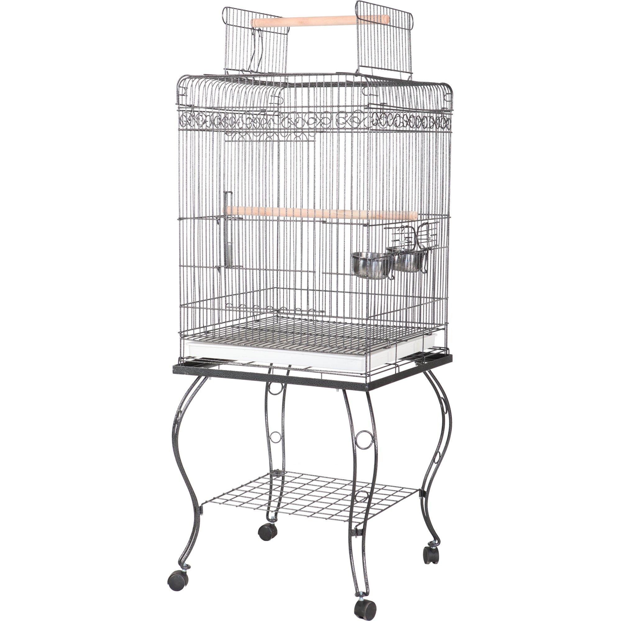 "A&E Cage Company 20"" X 20"" Play Top Bird Cage in White"