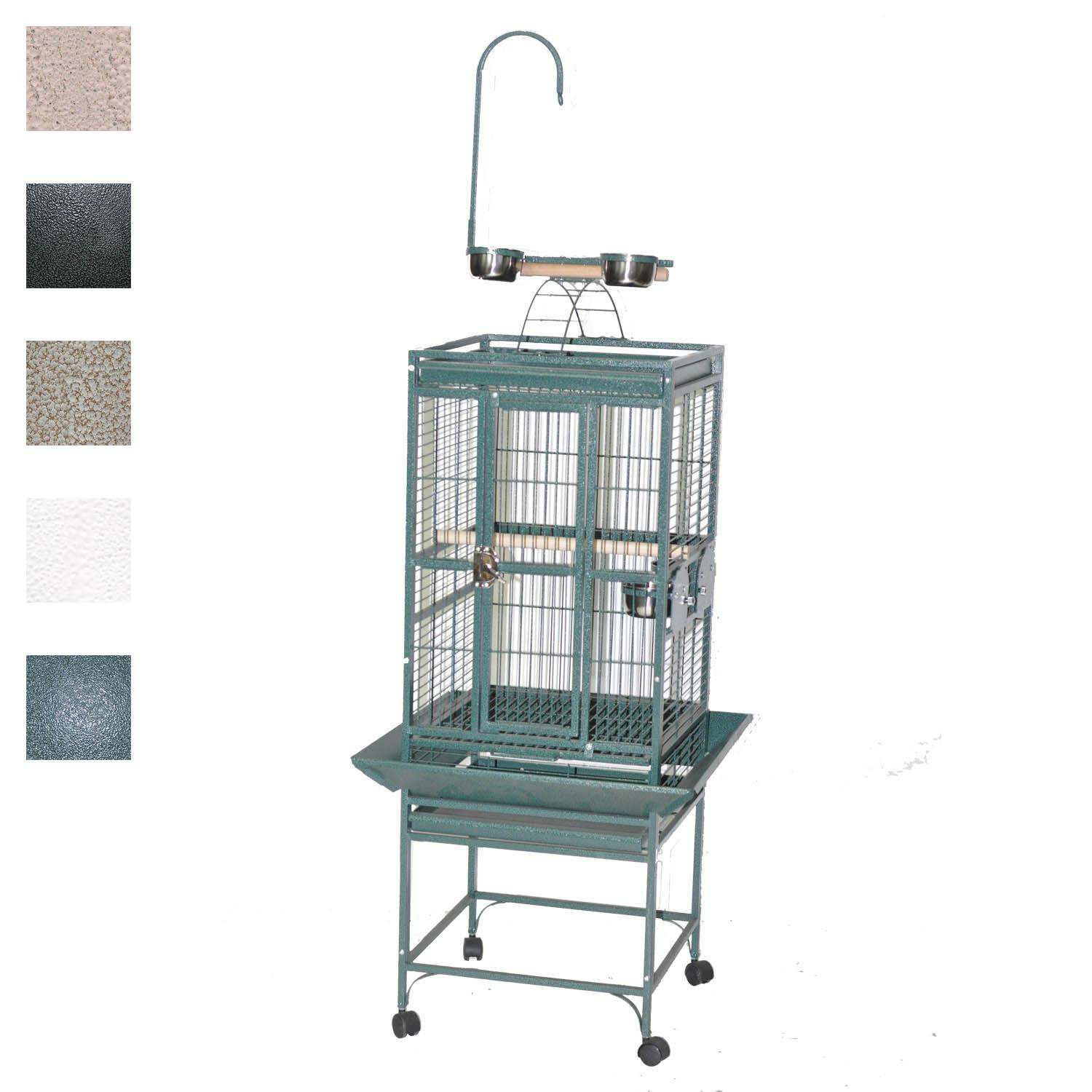 "A&E Cage Company 18"" X 18"" Play Top Bird Cage in Black"