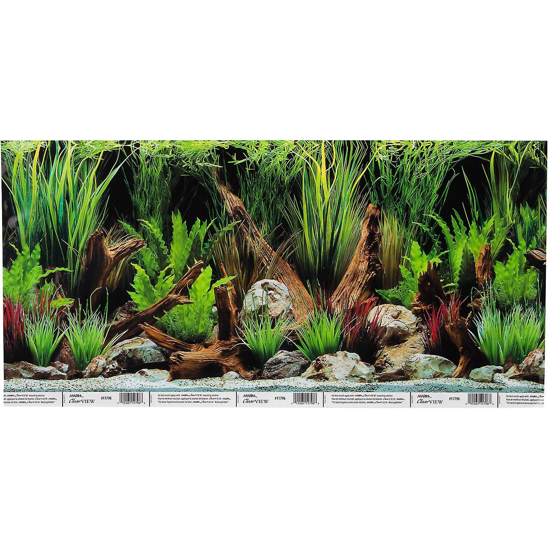 Hagen Marina Reversible Aquarium Background in Planted Oasis/Slate Wall