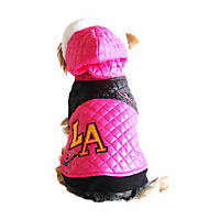 Anima L.A. Pink Quilted Dog Jacket