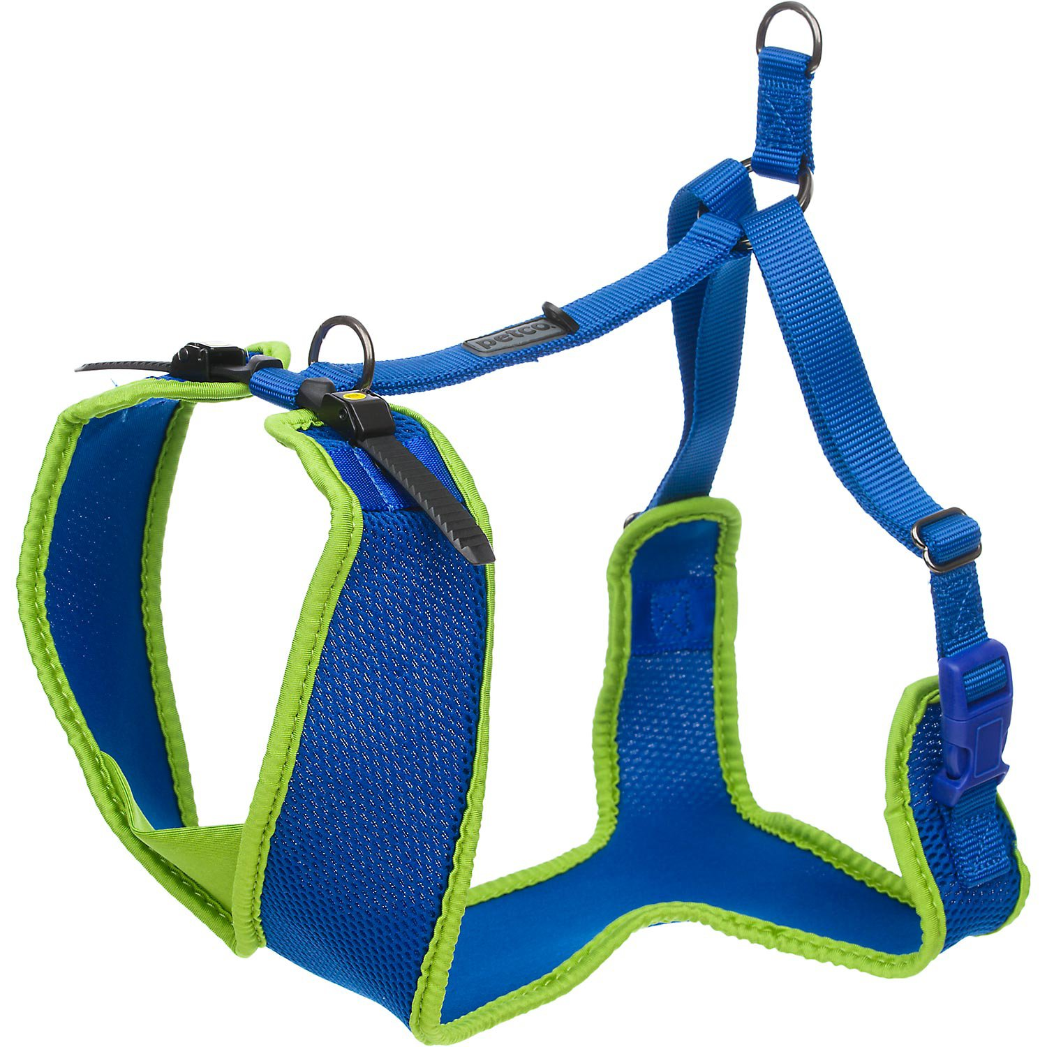 Petco Adjustable Mesh Harness for Big and Tall Dogs in Blue & Green