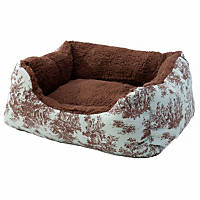 Alphapooch Toile and Coco Cuddler Pet Bed