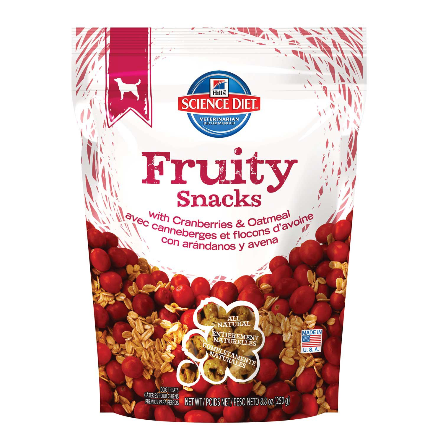 Hill's Science Diet Fruity Snacks with Cranberries & Oatmeal Dog Treats
