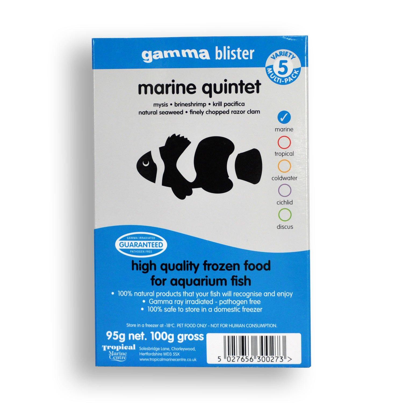 Gamma Frozen Food Marine Quintet Blister Pack Fish Food