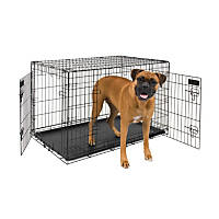 Petmate 2 Door Training Retreat Wire Dog Kennel in Black
