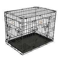 Petmate 2 Door Elite Retreat Wire Dog Kennel in Black & Silver Hammertone