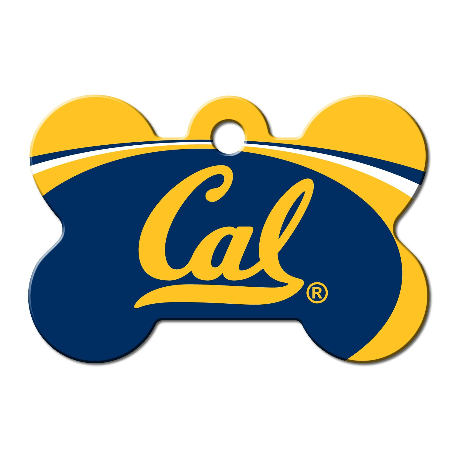 Quick-Tag Cal Golden Bears NCAA Bone Personalized Engraved Pet ID Tag, Large