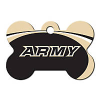 Quick-Tag Army NCAA Bone Personalized Engraved Pet ID Tag, Large