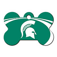 Quick-Tag Michigan State NCAA Bone Personalized Engraved Pet ID Tag, Large