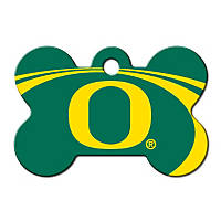 Quick-Tag Oregon Ducks NCAA Bone Personalized Engraved Pet ID Tag, Large