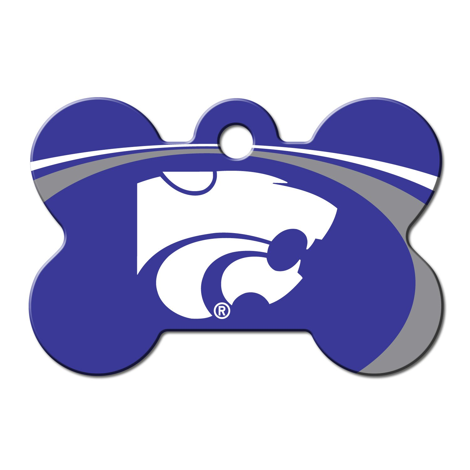 Quick-Tag Kansas State Wildcats NCAA Bone Personalized Engraved Pet ID Tag, Large