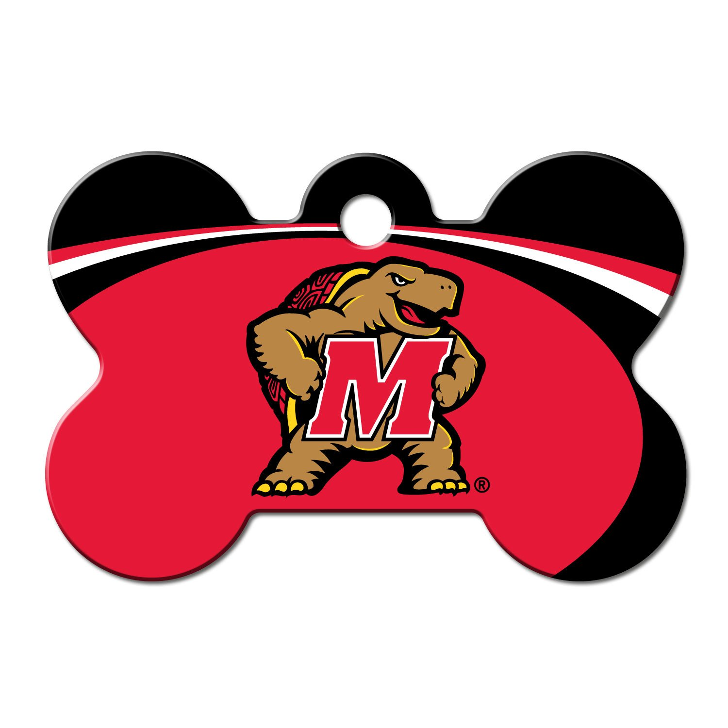 Quick-Tag University of Maryland NCAA Bone Personalized Engraved Pet ID Tag, Large