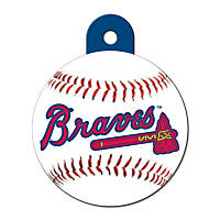 Quick-Tag Atlanta Braves MLB Personalized Engraved Pet ID Tag, Large