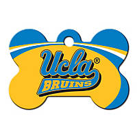 Quick-Tag UCLA Bruins NCAA Bone Personalized Engraved Pet ID Tag, Large