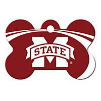 Quick-Tag Mississippi State NCAA Bone Personalized Engraved Pet ID Tag, Large