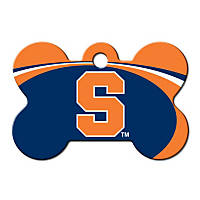Quick-Tag Syracuse NCAA Bone Personalized Engraved Pet ID Tag, Large