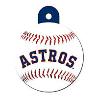 Quick-Tag Houston Astros MLB Personalized Engraved Pet ID Tag, Large
