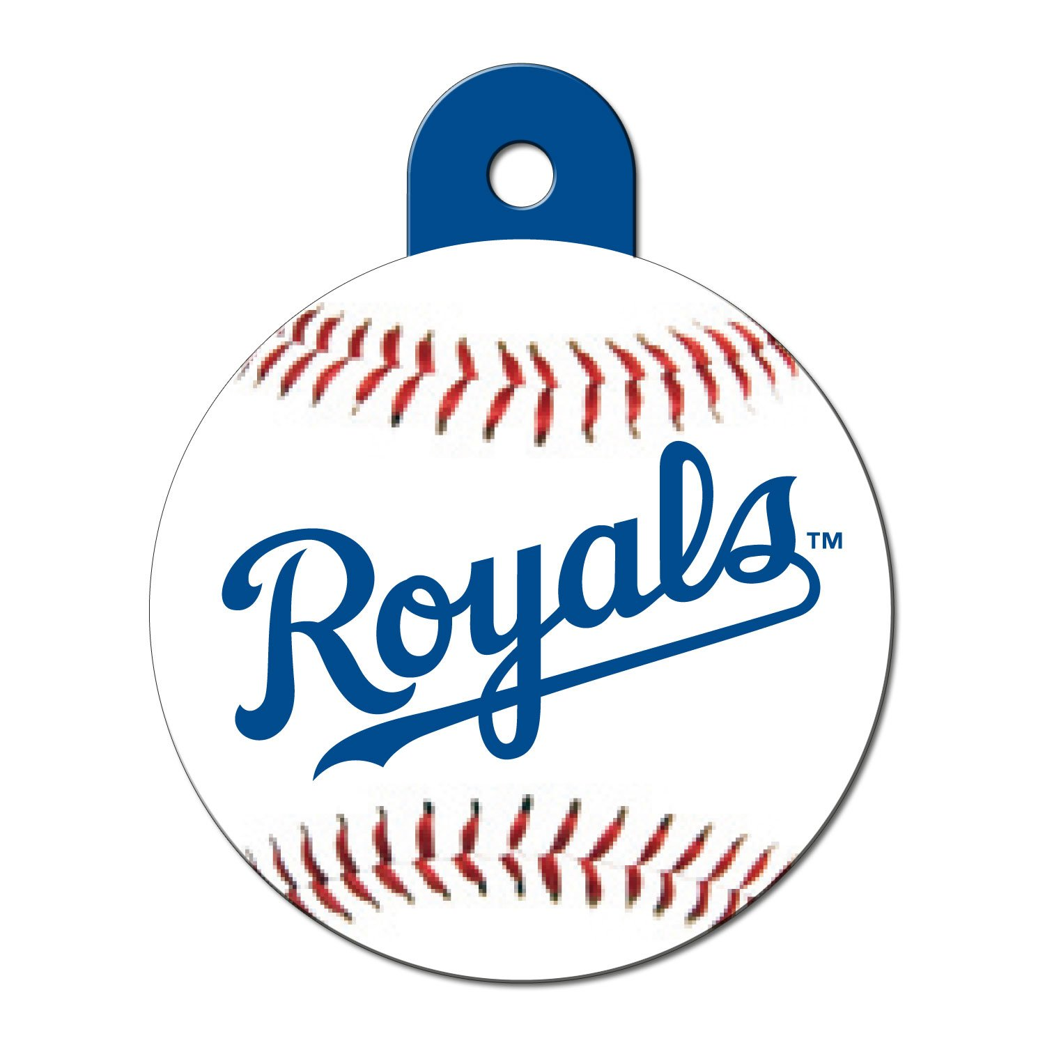 Quick-Tag Kansas City Royals MLB Personalized Engraved Pet ID Tag, Large