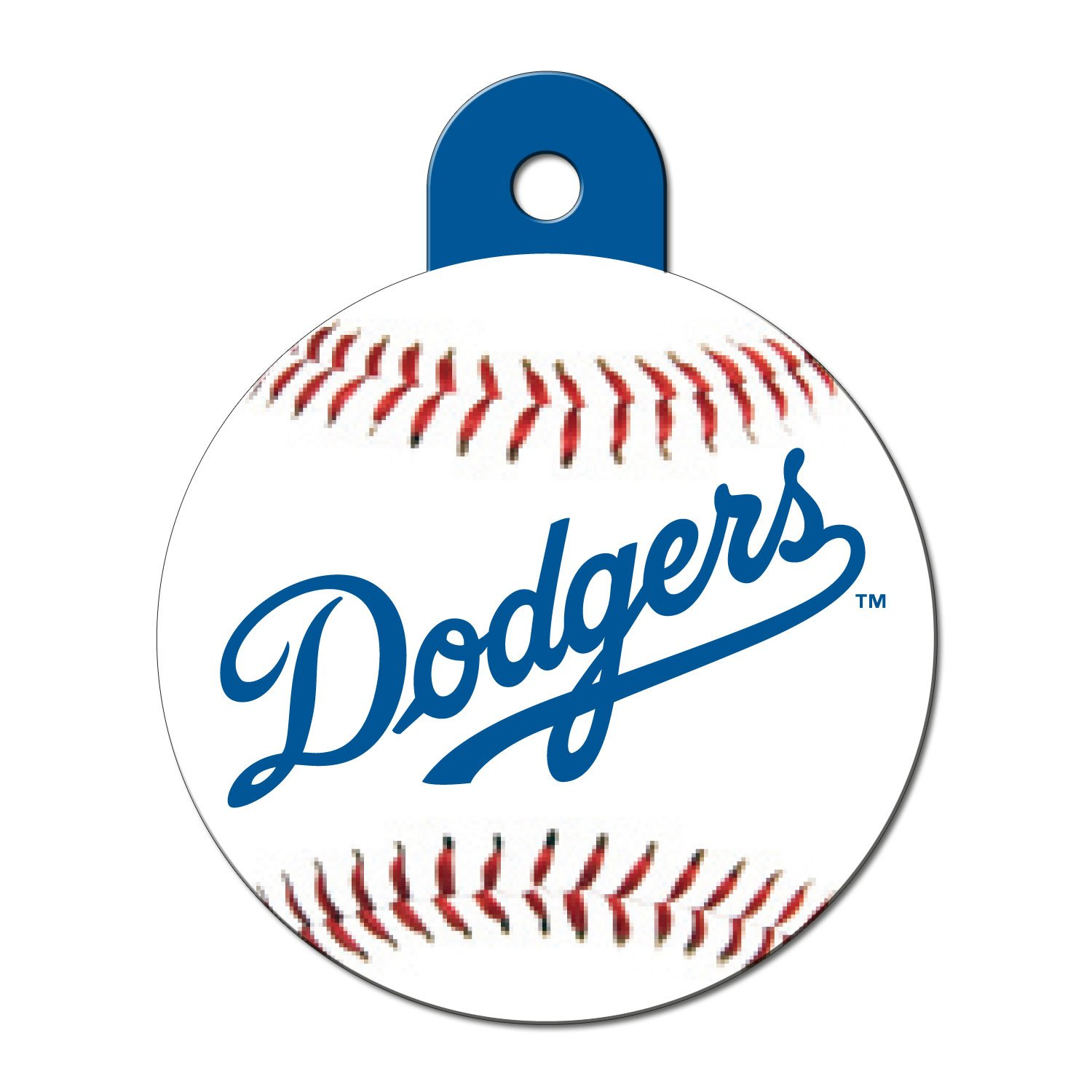Quick-Tag Los Angeles Dodgers MLB Personalized Engraved Pet ID Tag, Large