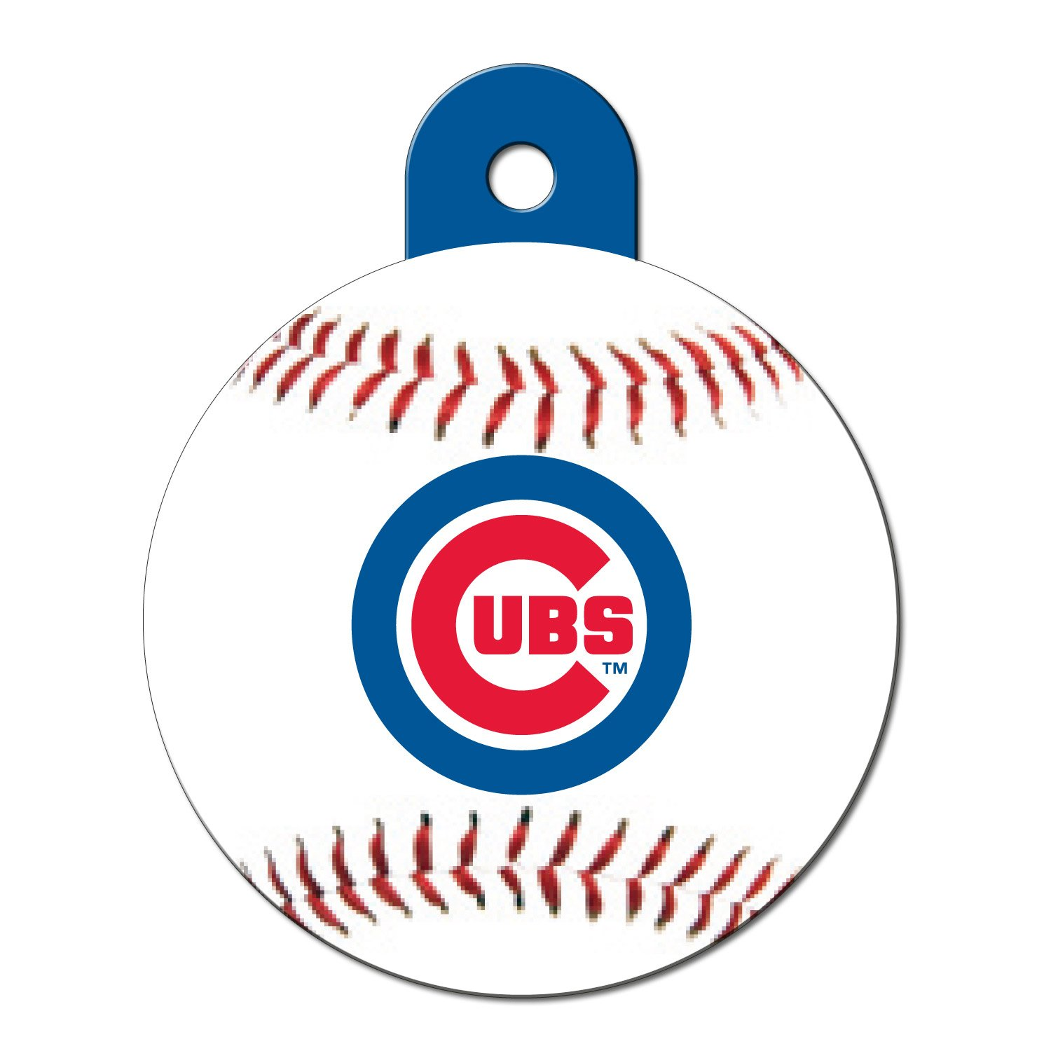 Quick-Tag Chicago Cubs MLB Personalized Engraved Pet ID Tag, Large