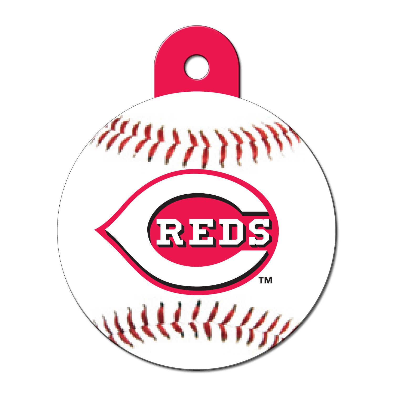 Quick-Tag Cincinnati Reds MLB Personalized Engraved Pet ID Tag, Large