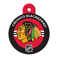 Quick-Tag Chicago Blackhawks NHL Personalized Engraved Pet ID Tag, Large