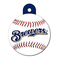 Quick-Tag Milwaukee Brewers MLB Personalized Engraved Pet ID Tag, Large