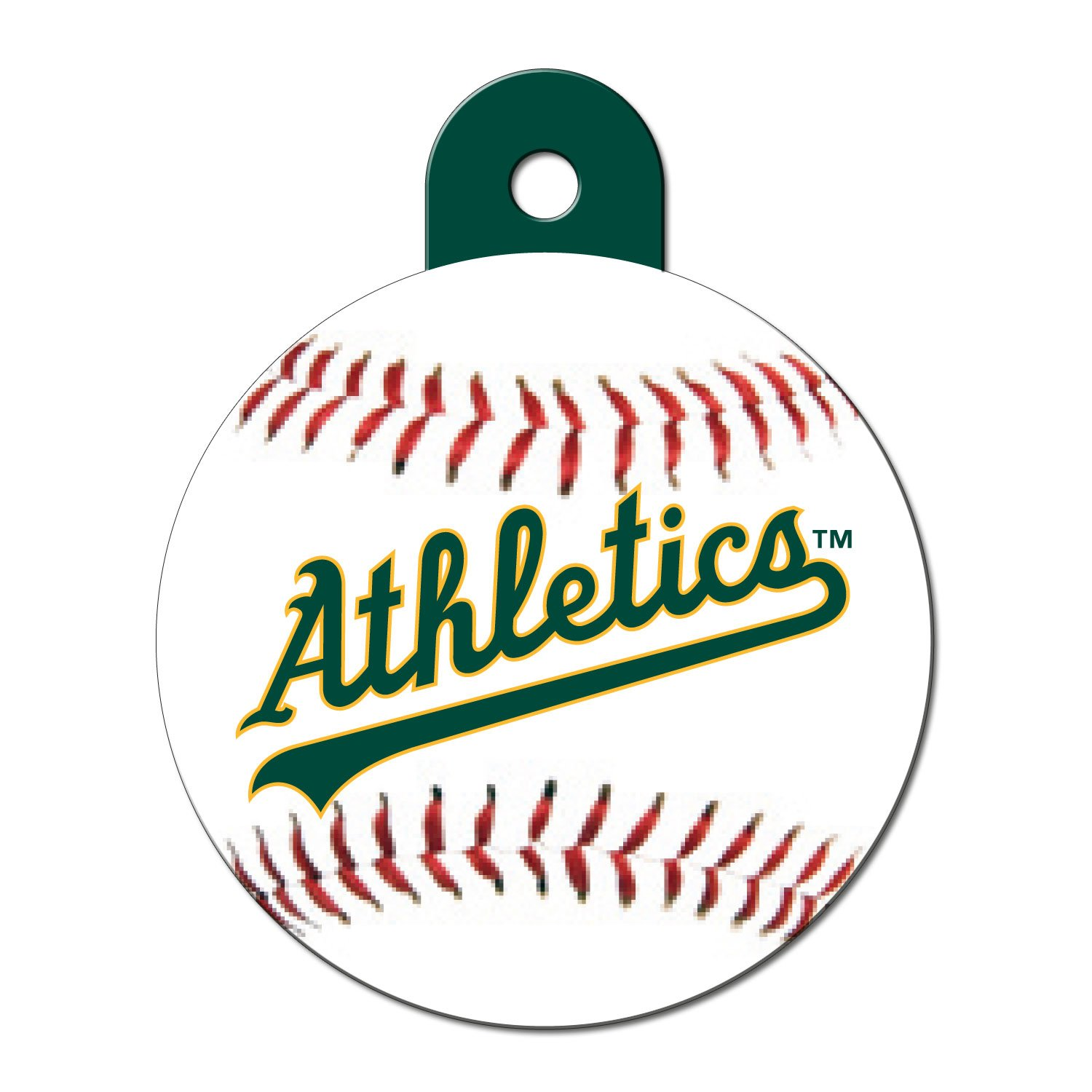 Quick-Tag Oakland Athletics MLB Personalized Engraved Pet ID Tag, Large