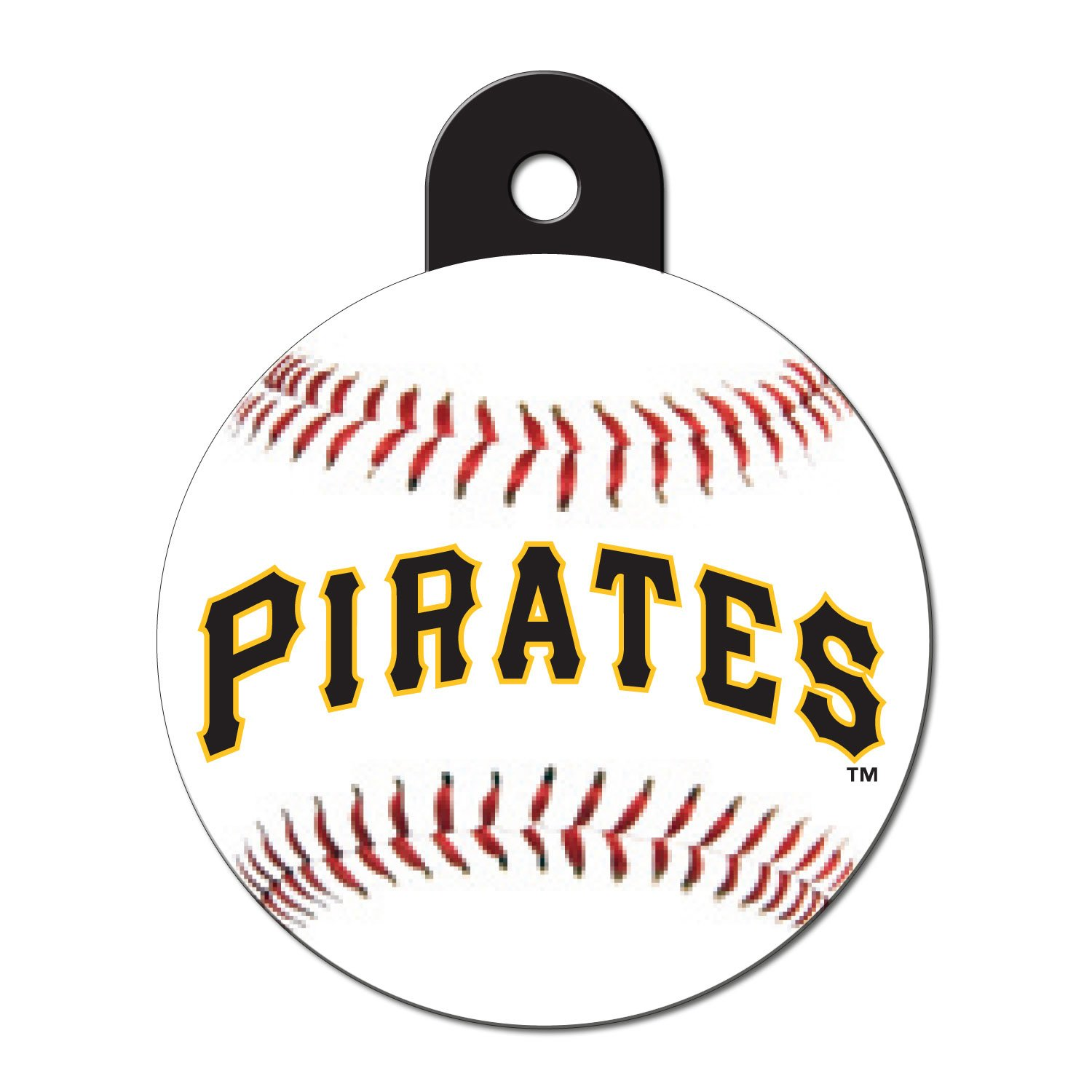 Quick-Tag Pittsburgh Pirates MLB Personalized Engraved Pet ID Tag, Large