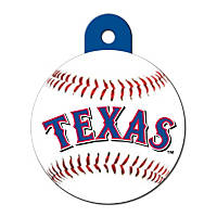 Quick-Tag Texas Rangers MLB Personalized Engraved Pet ID Tag, Large