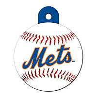 Quick-Tag New York Mets MLB Personalized Engraved Pet ID Tag, Large