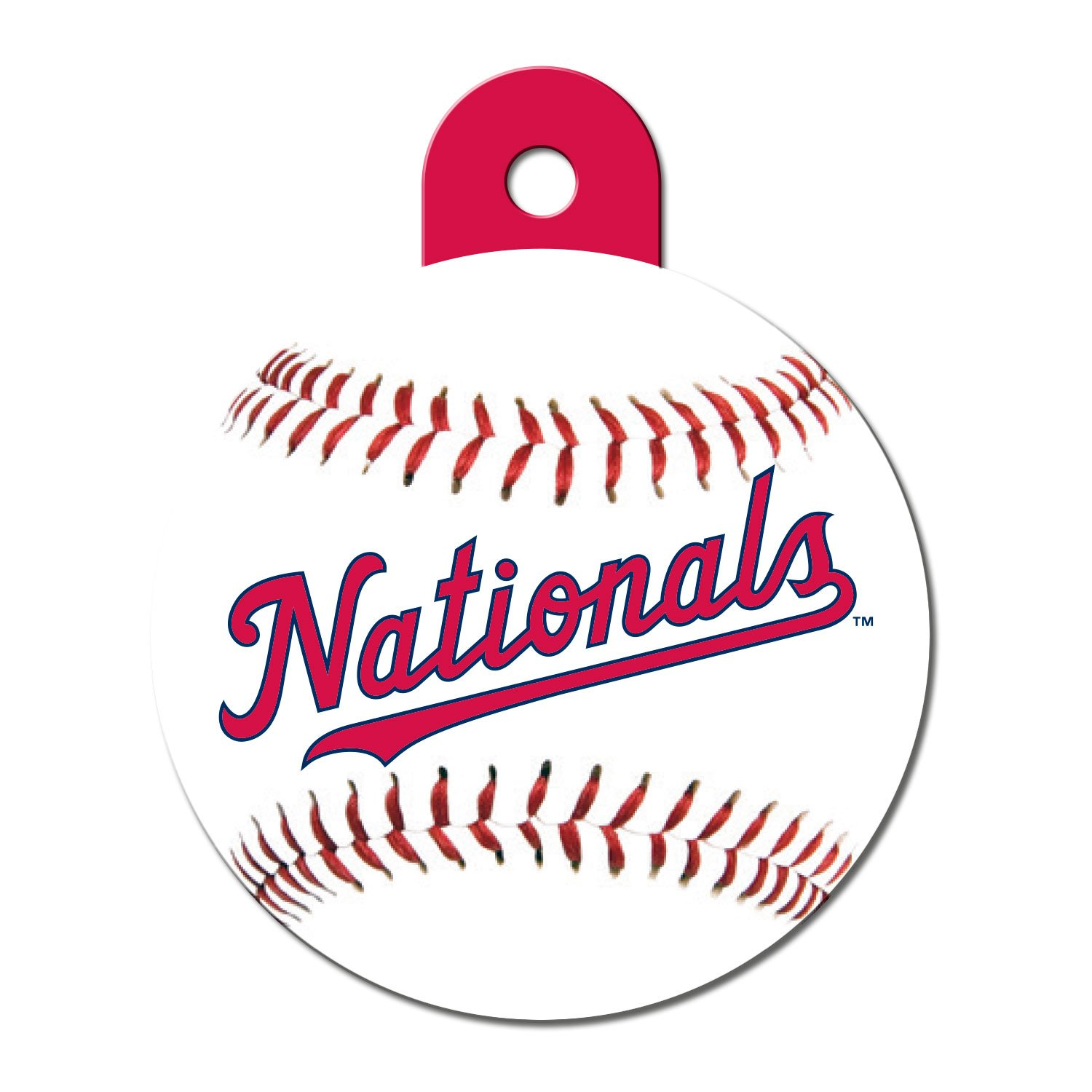 Quick-Tag Washington Nationals MLB Personalized Engraved Pet ID Tag, Large
