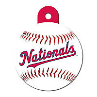 Quick-Tag Washington Nationals MLB Personalized Engraved Pet ID Tag