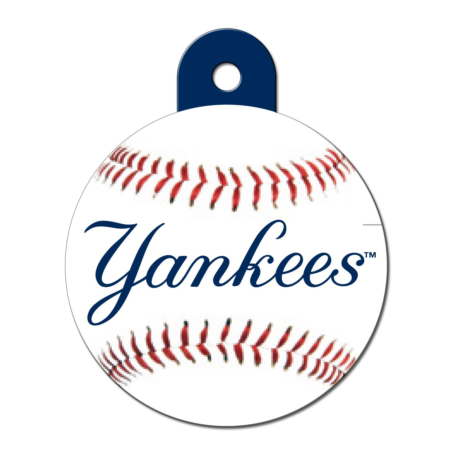 Quick-Tag New York Yankees MLB Personalized Engraved Pet ID Tag, Large