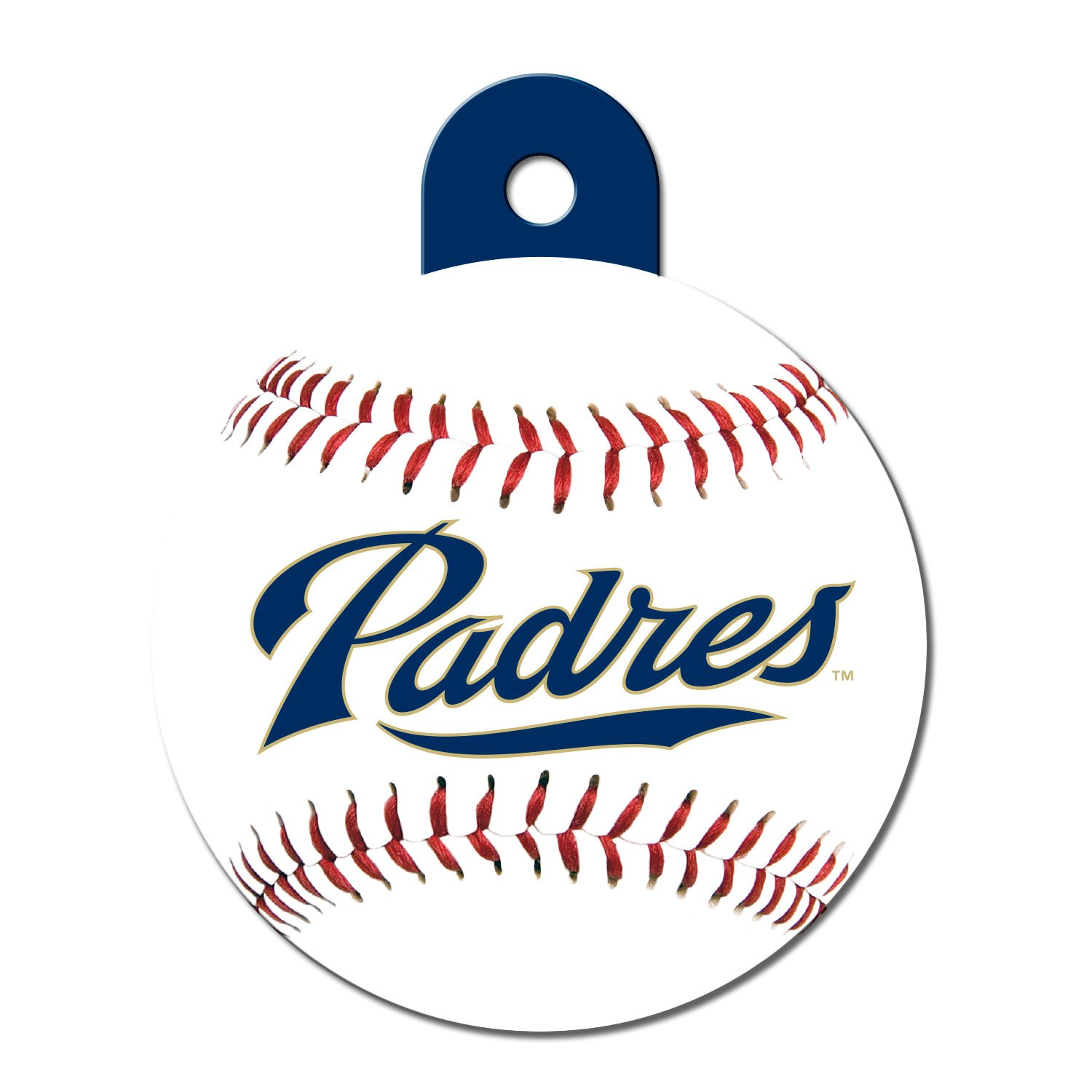 Quick-Tag San Diego Padres MLB Personalized Engraved Pet ID Tag, Large