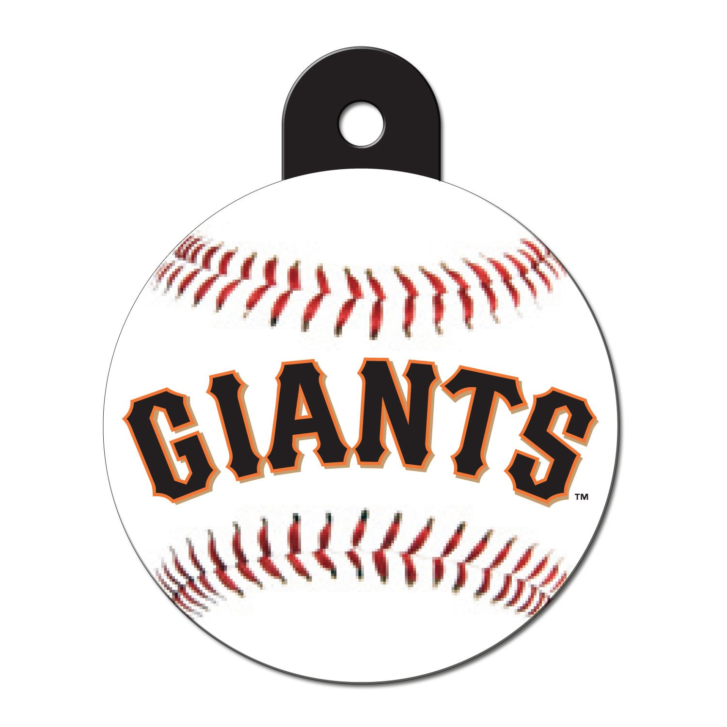 Quick-Tag San Francisco Giants MLB Personalized Engraved Pet ID Tag, Large