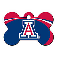 Quick-Tag Arizona Wildcats NCAA Bone Personalized Engraved Pet ID Tag, Large