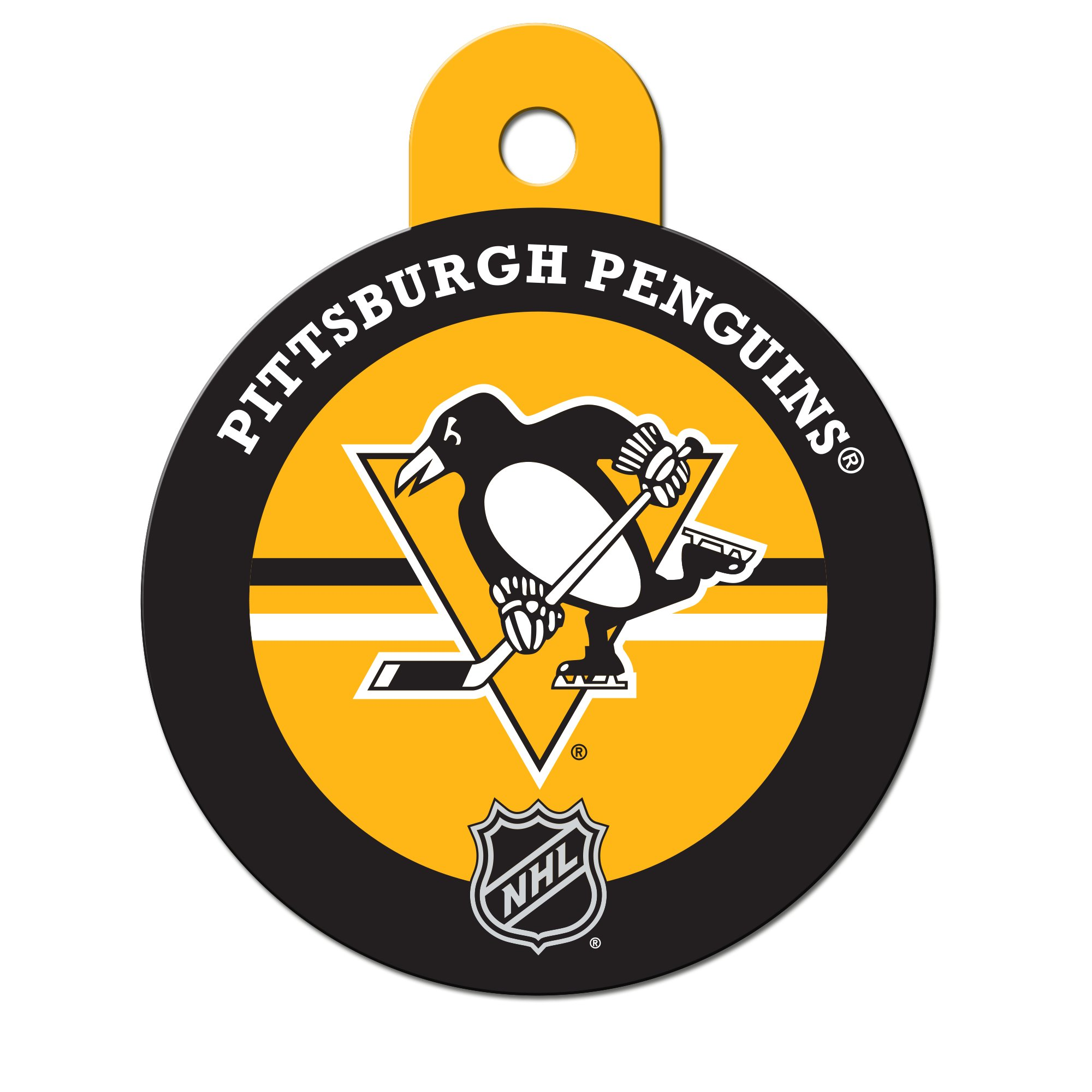 Quick-Tag Pittsburgh Penguins NHL Personalized Engraved Pet ID Tag, Large