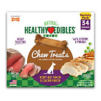 Nylabone Healthy Edibles 2 Flavor Variety Pack Dog Bone Chews
