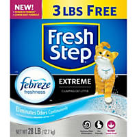 Fresh Step with Febreze Premium Scoopable Clumping Cat Litter Multiple Cat Strength