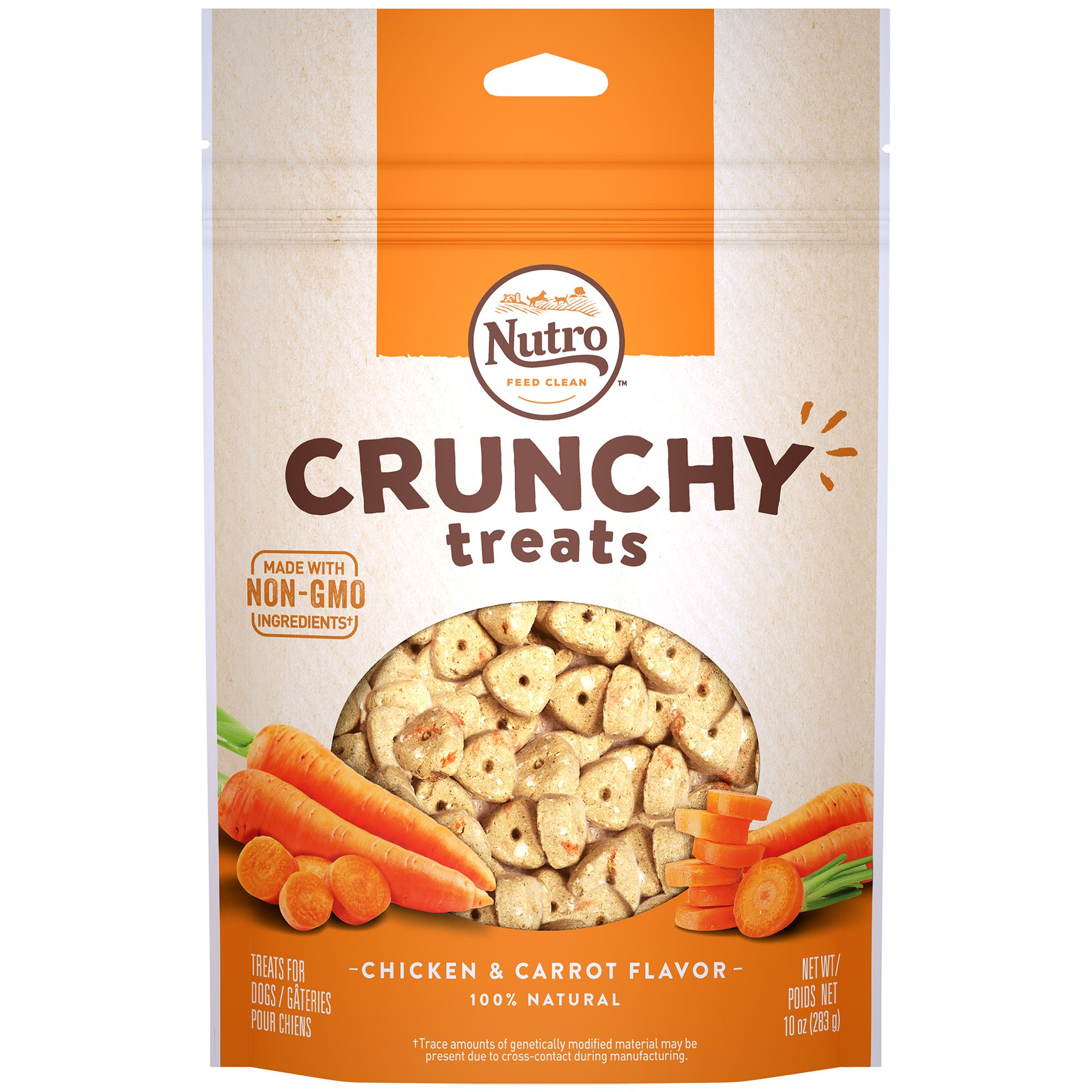 Nutro Crunchy Dog Treats with Real Carrots