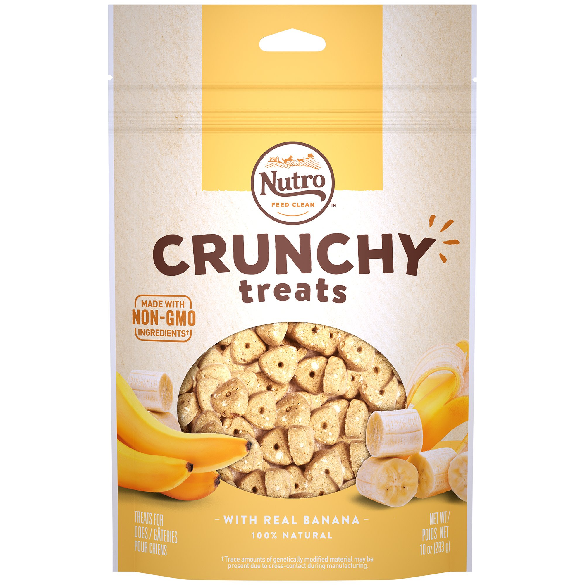 Nutro Crunchy Dog Treats with Real Banana