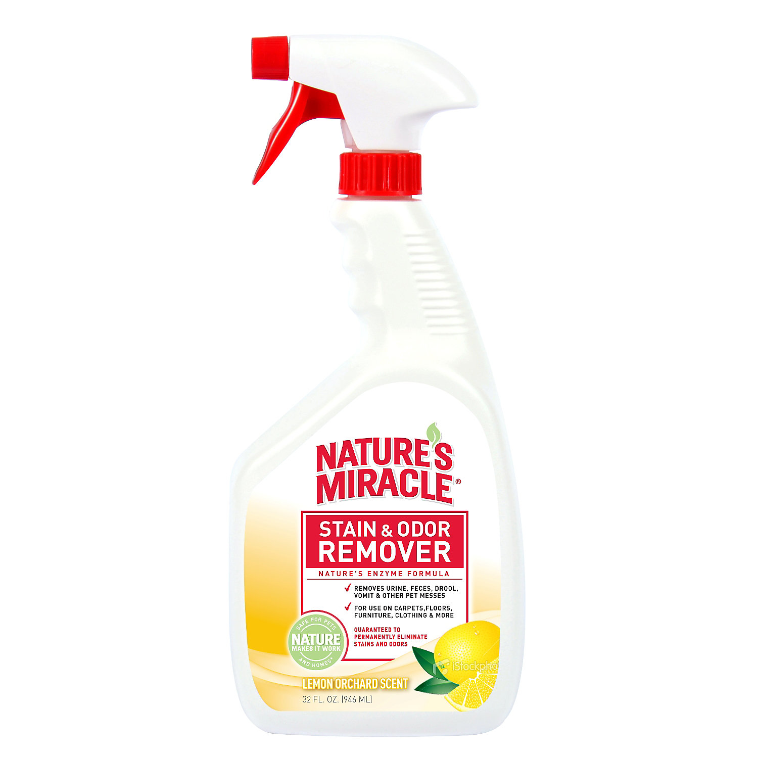 Natures Miracle Lemon Scented Stain Odor Remover 32 Fl. Oz.