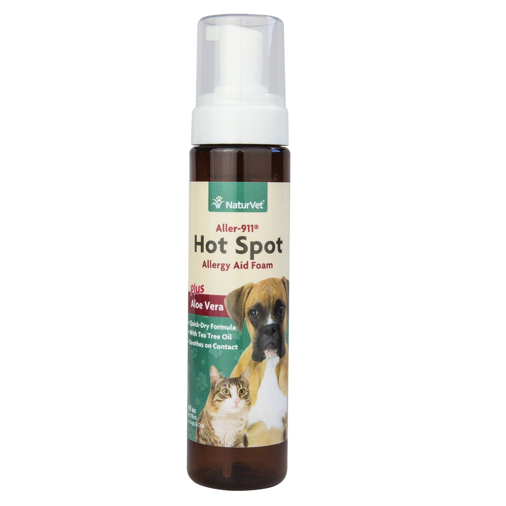 NaturVet Aller-911 Hot Spot Allergy Aid Foam