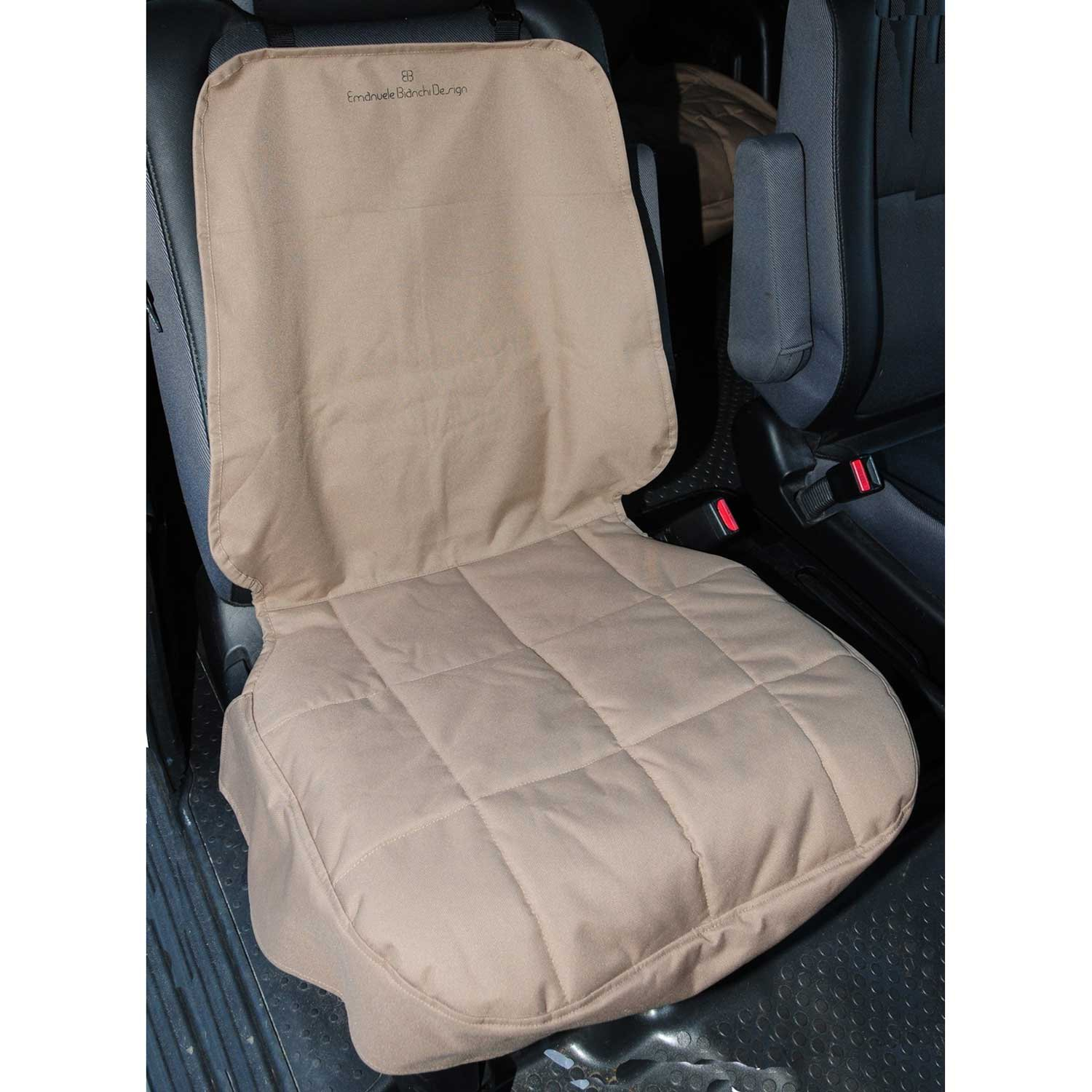 Pet Ego Front Car Seat Protector in Tan