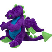 goDog Plush Purple Dragon Dog Toy