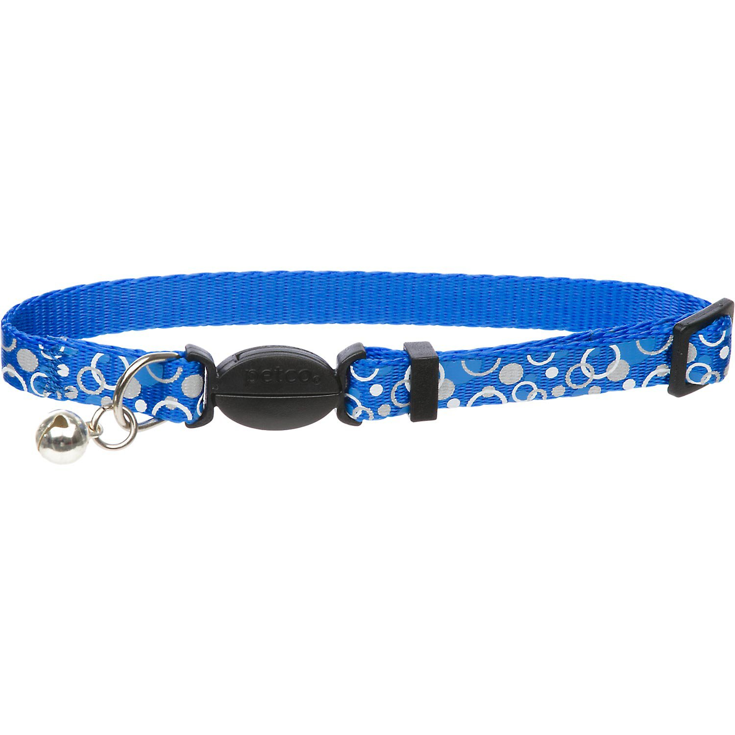 Petco Nylon Adjustable Reflective Dots Cat Collar in Blue