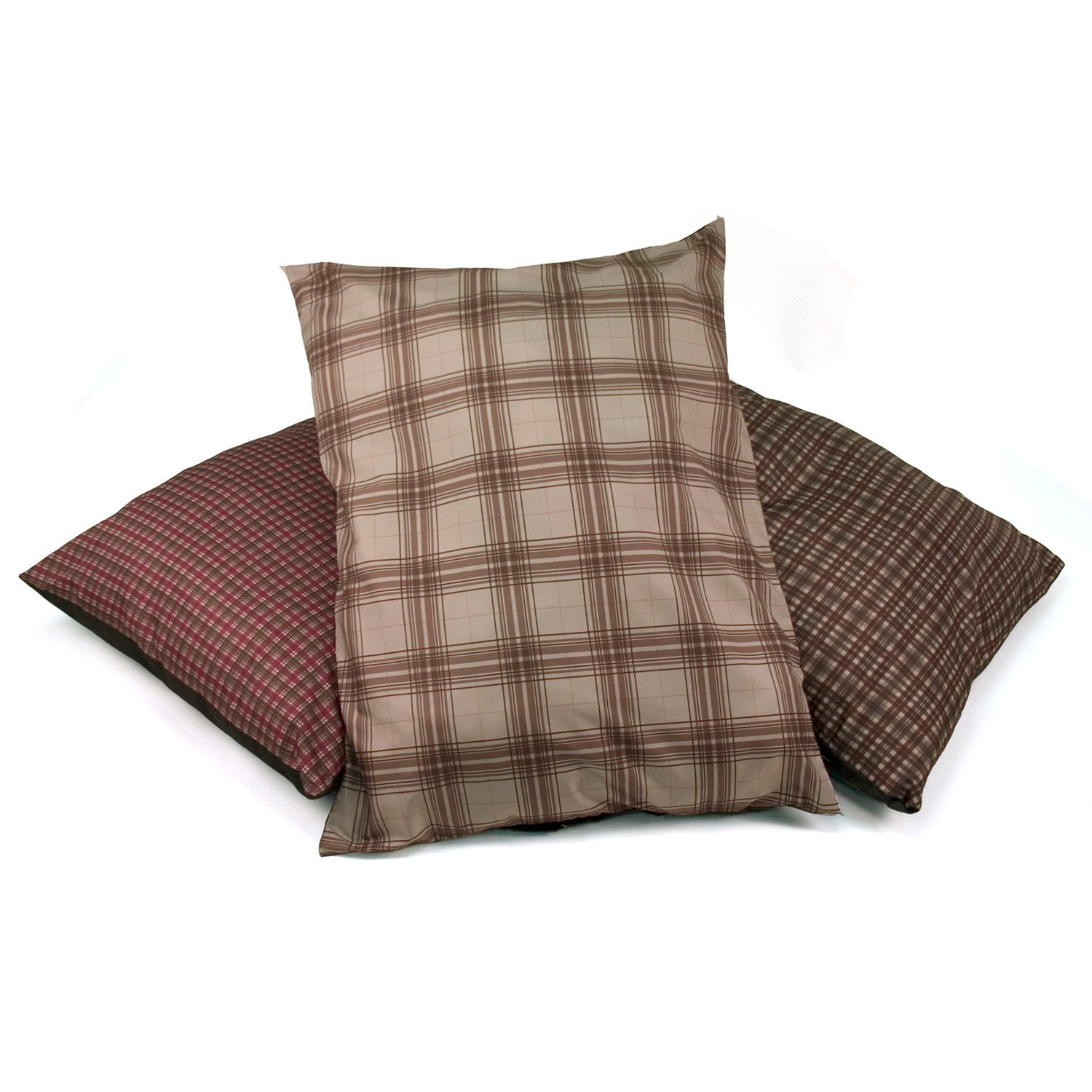 Dallas Manufacturing Dog Bed 3 Pack in Mixed Plaid