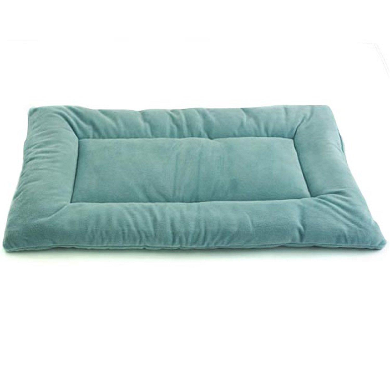 Pet Dreams Plush Sleep-eez Seafoam Blue Reversible Dog Crate Pad